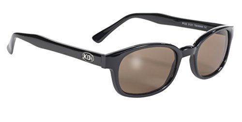 Pacific Coast Original KD's Biker Sunglasses (Black Frame/Dark Brown ()