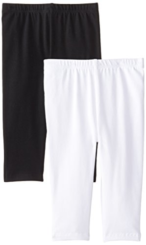 Price comparison product image The Children's Little Girls' Cropped Legging (Pack Of 2),  White / Black,  Small (5 / 6)