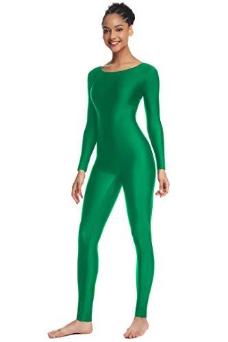OVIGILY Women's Long Sleeve Unitard Dance Costume Spandex Full Body Suits]()