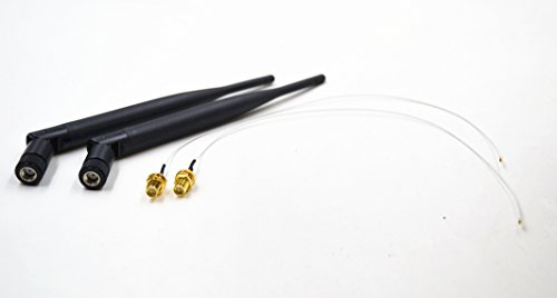Antenna for Intel 7260NGW,High Speed Antenna kit 2 x 6dBi RP-SMA Dual Band 2.4GHz 5GHz + 2 xM.2(NGFF) MHF4 Cable Antenna Mod Kit No Soldering use for NGFF Wireless Cards & M.2(NGFF) 3G/4G Cards by Siren