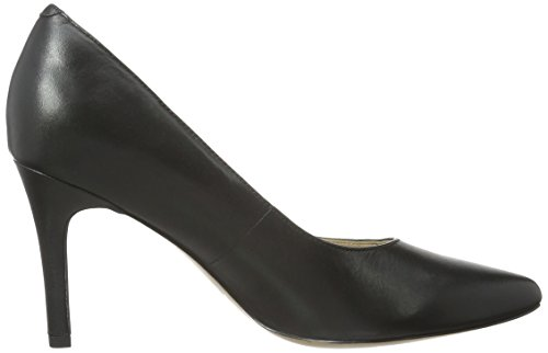 Nero Donna Keer Dinah Toe Scarpe Clarks Black Leather Peep SWYXBwpq