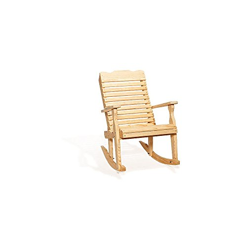 Outdoor Pine Curve Back Rocking Chair - Rocking Curve Back Chair
