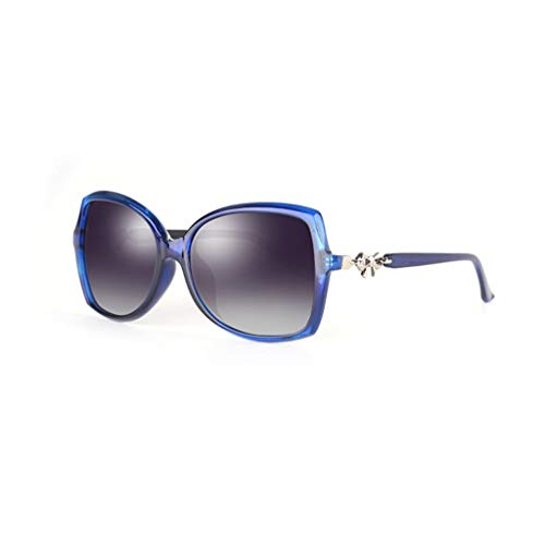 Star Elegant Soleil Lady Round polarisées Nouvelles lunettes Face soleil Lunettes Des Bleu de Sport de Style Femme vB8qWW1ZO