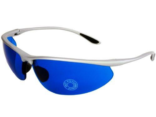 G&G Golf Ball Finder Glasses Blue Lens Sunglasses (Silver) -