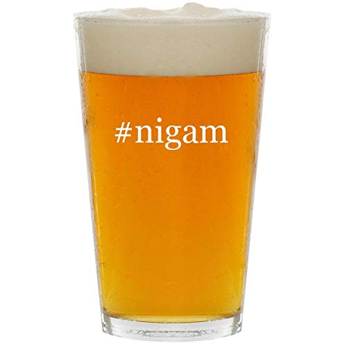 #nigam - Glass Hashtag 16oz Beer Pint