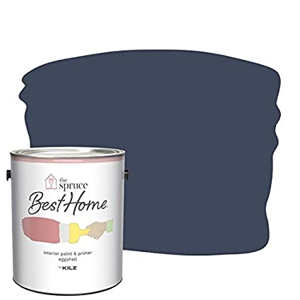 The Spruce Best Home by KILZ 15122801 Interior Eggshell Paint & Primer in  One, 1 Gallon, SPR-18 Cosmic Sapphire
