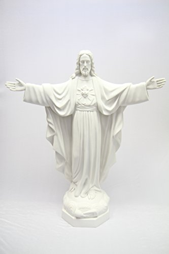 34'' Blessing Sacred Heart of Jesus Christ Catholic Italian Statue Sculpture Religious Figurine Vittoria Collection Made in Italy Indoor Outdoor Garden by Vittoria Collection