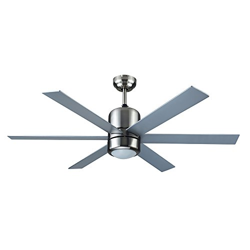 Design House 154419 Indus Sol Modern Tri-Mount 3-Speed 48 Ceiling Fan with Redwood Silver Reversible Blades and Wall Control, Satin Nickel