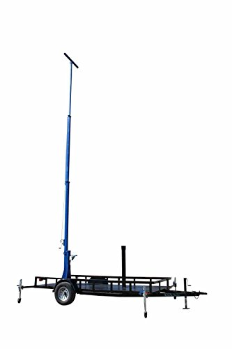 14' Three Light (Three Stage Light Mast on 14' Trailer - 14' to 30' - 9kW Gas Generator - Junction Box w/ Fan)