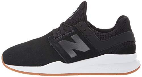 New Balance Women's 247v2 Sneaker, Black/White, 5 B US