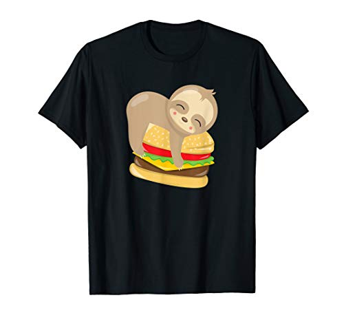 Baby Sloth Cheeseburger Funny T-Shirt]()