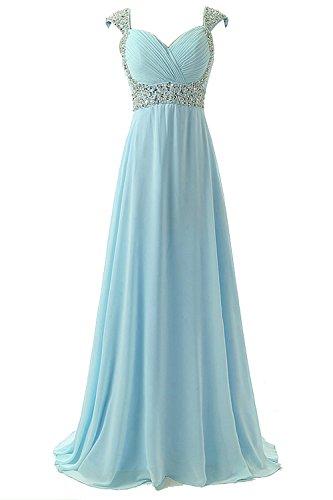 Buy light blue a line prom dress - 8