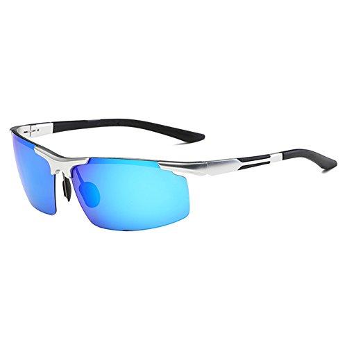 Gafas Medio Polarizada Azul Luz De Protección Gafas Sol Anti Libre UV WYYY Marrón Hombres Clásico UVA Marco Gafas 100 De Protección Solar Aire Conducción Color 8dwO5xn6