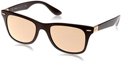 Ray-Ban Men's Wayfarer Liteforce Square Sunglasses, Matte Black, 52 - Wayfarer Ray Ban Matte Black