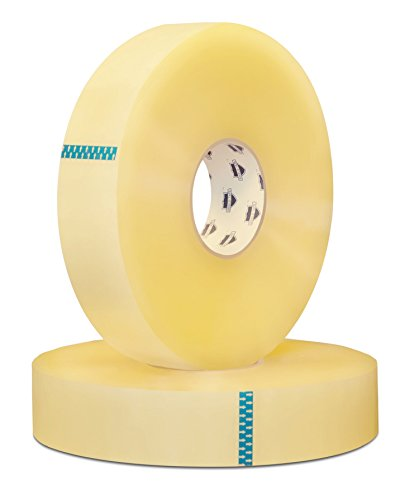 Clear Packing Hotmelt Machine Tape 2 in. x 1500 yds, 2.0 Mil 24 Rolls by Shield