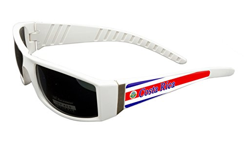 Costa Rica Design White Frame/Black Lens 60mm Sunglasses Item # - Sunglasses Rica Costa