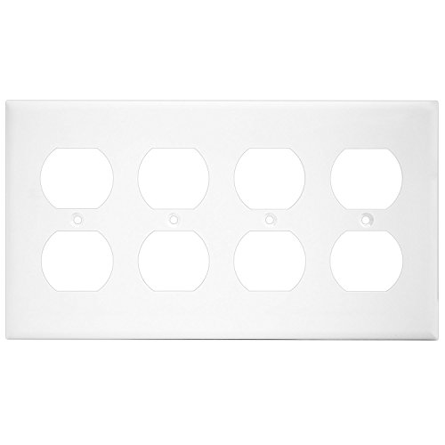 ENERLITES Duplex Receptacle Outlet Wall Plate, Mid-Size 4-Gang 4.88