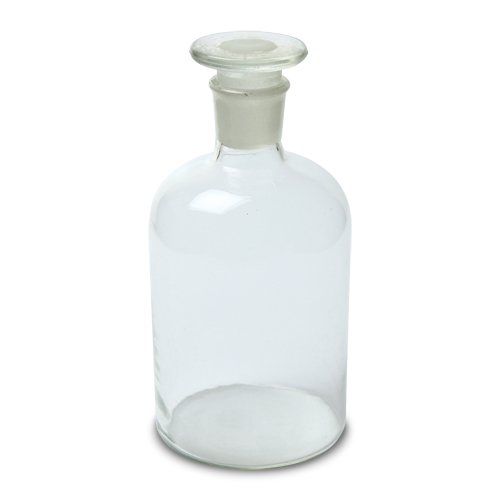 Glass Stopper (213T6 Karter Scientific Reagent Bottle, Clear, 500mL, Narrow Mouth w/Stopper Size 33, 85mm x 172mm)