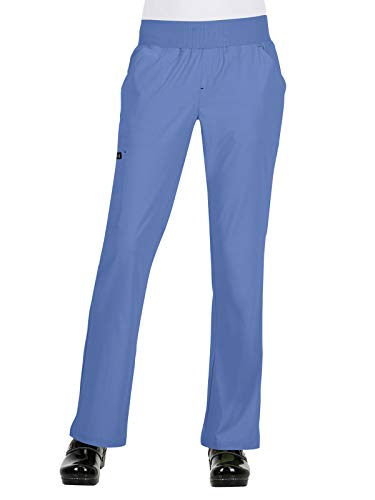 (KOI Basics Women's Laurie Scrub Pant True Ceil 3XL)