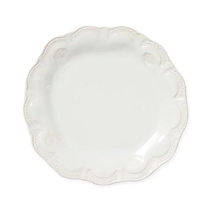 Vietri Incanto Stone Aqua Lace Salad Plate