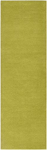 - Surya M-337 Mystique Solids and Borders Rectangle Lime 2'6