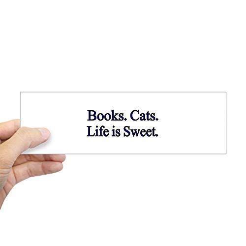 CafePress Books. Cats. Life is Sweet. Bumper Sticker 10