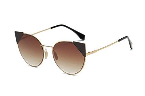 Lunettes de Soleil 2018 Ansenesna Lunettes de Soleil Polarisées Cateye Modernes et Fashion Réfléchissantes UV400 Pour Femmes C