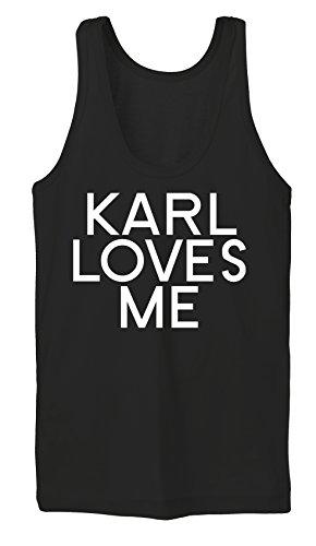 Karl Loves Me Tanktop Girls Noir