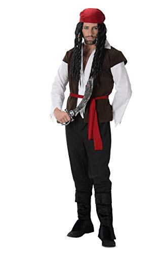 Male Villain Halloween Costumes (Pirate Captain Costume Set - Halloween Mens High Seas Villain Lord,)