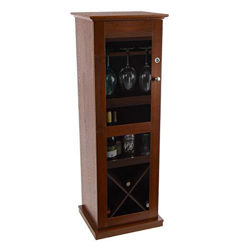 Atlantic Herrin Locking Bar Cabinet, medium, Chesnut