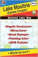 Lake Moultrie (Santee Cooper) Fishing Map (South Carolina Lake Maps