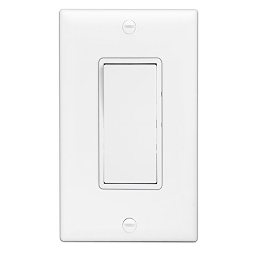 Enerlites 3-Way On/Off Rocker Light Switch 93150-White | 15 Amp, 120V/277V, Paddle, AC, Single Pole, 3 Wire, Grounding Screw, Residential Switch, UL Listed | White - 10 Pack by Enerlites (Image #9)