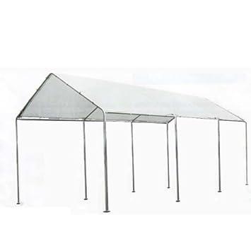WEBMARKETPOINT - Caseta de jardín para Coche con Estructura de Acero y Tela de Polietileno: Amazon.es: Jardín