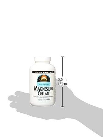 Amazon.com: Source Naturals, magnesio Chelate 100 mg – 250 ...