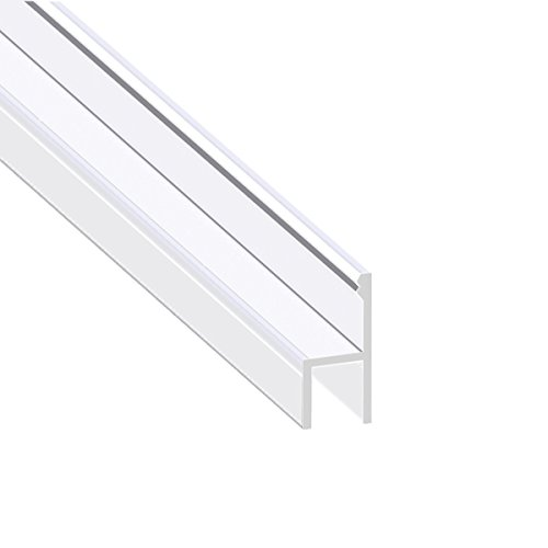 Glass Shower Trim (Glass Shower Door Seal, Frameless Glass Door Gasket Shower Door Bottom Sweep Molding Trim-Length 10 Feet (h-3/8 inch(10mm)))