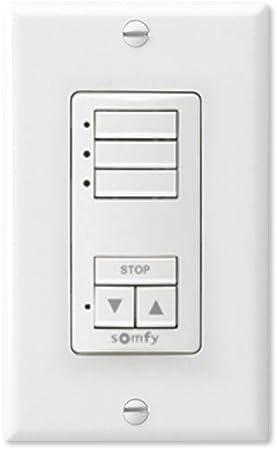 Somfy Funk Wandsender und Wandtaster Funkwandschalter Wall Switch RTS 2-Kanal