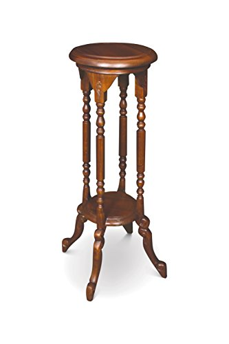 NES Furniture Solid Mahogany Wood Barley Twist Pedestal Table, 31