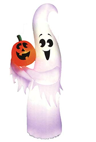 Airflowz Inflatable Happy Halloween Ghost and Pumpkin, Lights Up, 7 Feet Tall