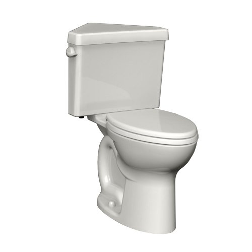 Height Two Piece Round Front (American Standard 270BD001.020 Cadet 3 Right Height Round Front Two-Piece Triangle Toilet with 12-Inch Rough-In, White)