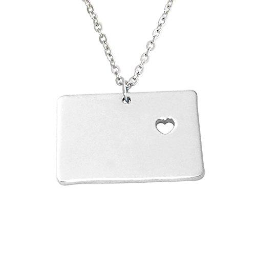 weddinghanger2015 I Heart Colorado Necklace Map Necklace,Custom State Map Necklace, Personalized Colorado Necklace