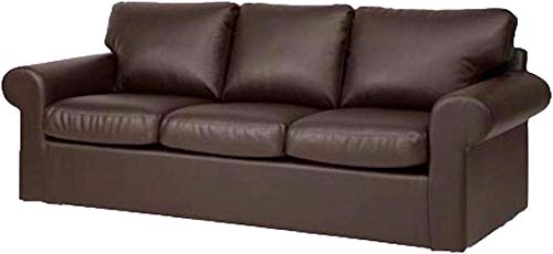 The Ektorp 3 Seat Sofa Cover Replacement is Custom Made for IKEA Ektorp Sofa Cover, an Ektorp Sofa Slipcover Replacement (New Brown PU Leather) (Seat Leather Covers Sofa)