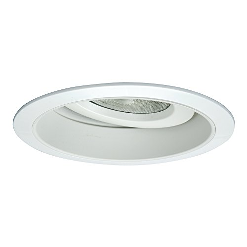 (HALO Recessed 378P 6-Inch PAR30 Adjustable Trim with Splay, White)