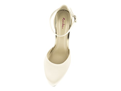Ivory Brautschuhe Club Rainbow Satin Damen Dana Pumps qRgFwA