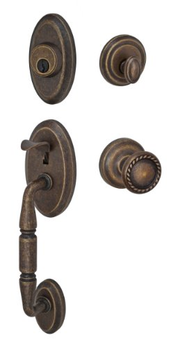 Fusion Hardware H-15-S3-0-MDB Elite Collection Weston Two-Piece Interior Handleset with Rope Knob, Medium Bronze