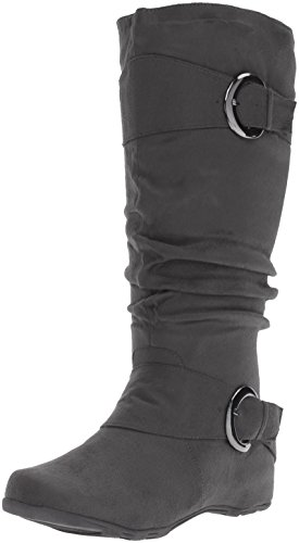 Brinley Co Womens Augusta 02 Slouch Boot, Grigio