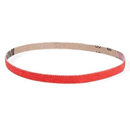 Pack of 20 Coarse Grade 50 Grit 1//4 Width Ceramic Bright Red VSM 307815 Abrasive Belt 18 Length 1//4 Width 18 Length VSM Abrasives Co. Cloth Backing