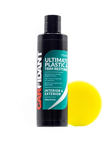 Carfidant Trim & Plastic Restorer - Restores Faded and Dull Plastic, Rubber, Vinyl Back to Black! Protectant and Sealant from UV & Dirt - Easy to Apply!