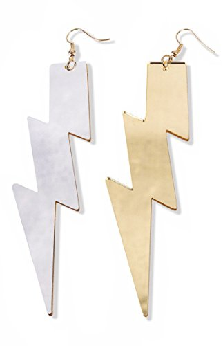 Forum Novelties, Womens Be Your Own Superhero Lightning Bolt Dangle Earrings Costume Accessory