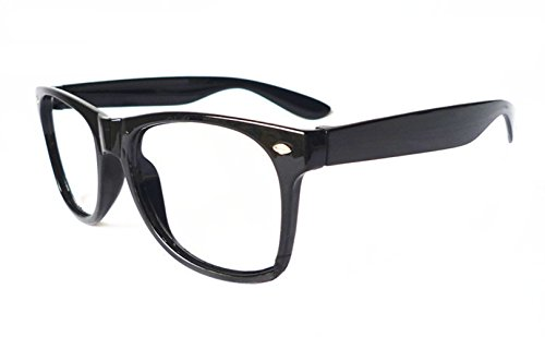 FancyG Classic Retro Fashion Style Clear Lenses Glasses Frame Eyewear - Black -