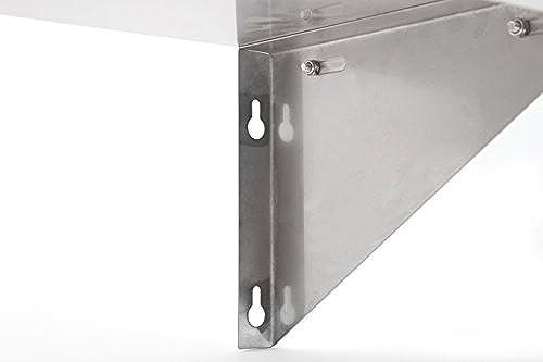 John Boos EWS8-1248 Stainless Steel Standard Wall Shelf, 48
